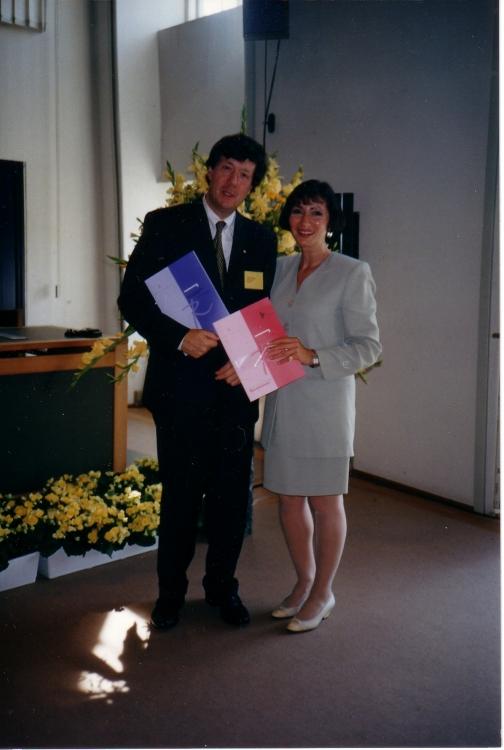 John Borking mit Ann Cavoukian unmittelbar nach der Präsentation des Berichts (Bild: John Borking).