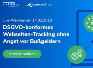Anmeldung für Live-Webinar der: DSGVO-konformes Webseiten-Tracking ohne Angst vor Bußgeldern